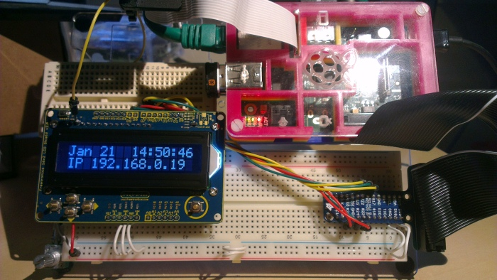 Raspberry Pi with 16x2 Display