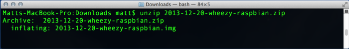 Unzip the file.