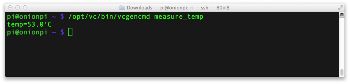 RasPi Temp Monitoring
