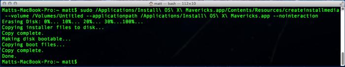 OSX's createinstallmedia tool.