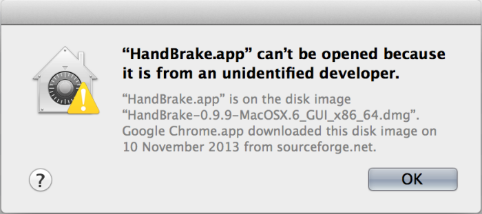 OSX protecting naive users from themselves.