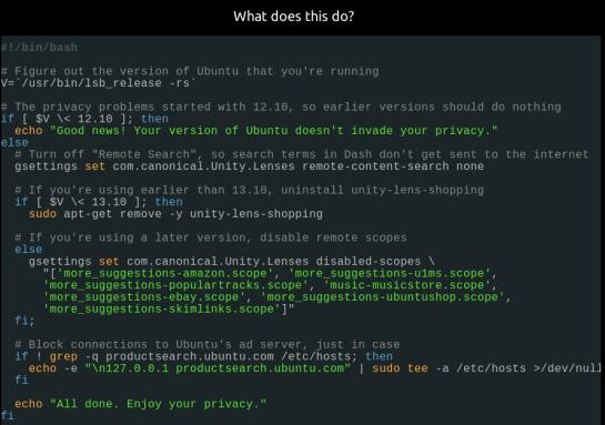 Ubuntu Privacy Fix (Cont')